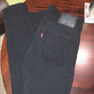 Men's black Levis skinny jeans